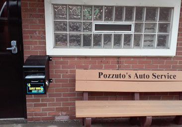 Outside Bench at Pozzuto's